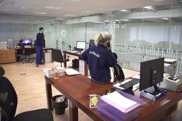 Nuestros empleados en Grafilandia